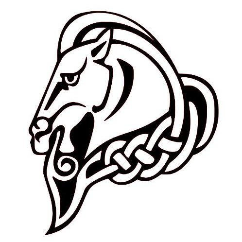 Celtic Knotwork Horse Vinyl Decal - Viking Horse Sticker