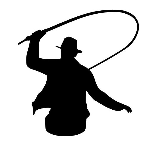 Whip It - Man with Single Tail Decal - Cowboy Silhouette