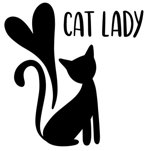 Cat Lady Vinyl Decal - Pet Stickers -Animal Rescue - I Love Cats