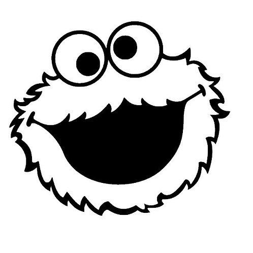 Cookie Monster Vinyl Decal - Sesame Street Stickers - Cookie Monster Stickers