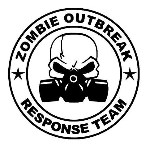 Zombie Outbreak Response Team Gas Mask Vinyl Decal - Walking Dead - iZombie