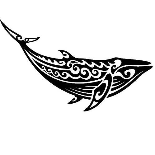 Tribal Whale Vinyl Decal