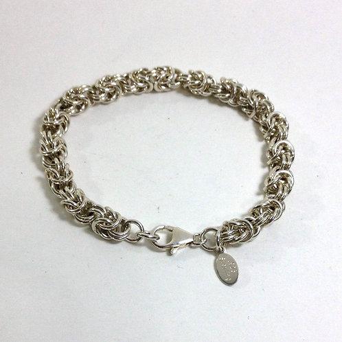 Handcrafted Sterling Silver Byzantine Bracelet