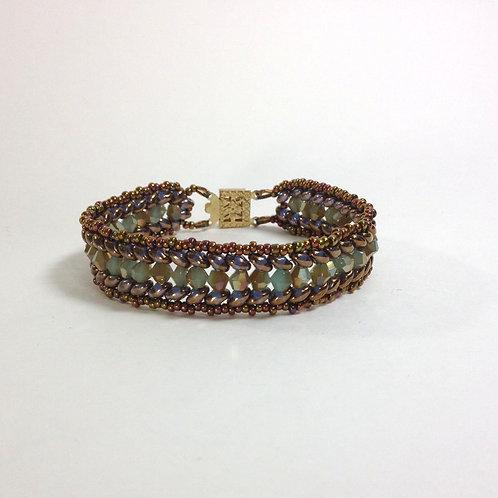 Roman Laurel Leaf Beaded Handmade Bracelet