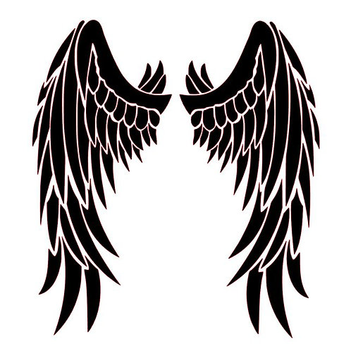 Dark Angel Wings Vinyl Decal - Goth Angel Stickers - Angel Decals
