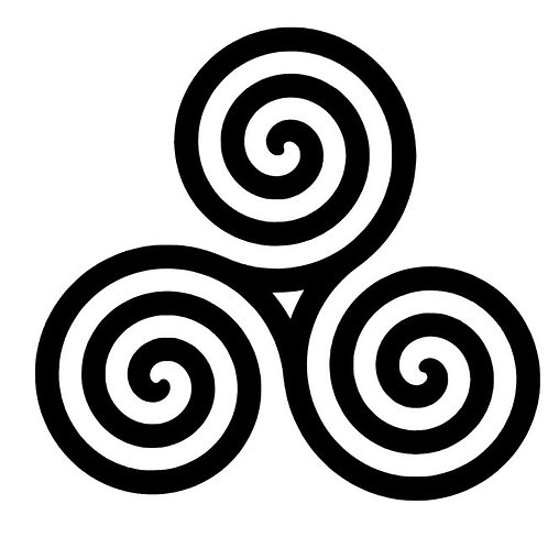 Celtic Triple Spiral Triskele Vinyl Decal - Wiccan / Pagan Decals