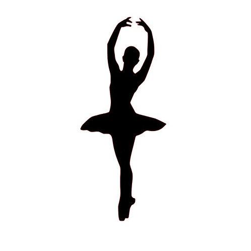 Ballerina Vinyl Decal - Dance Decals - En Pointe Ballerina Wall Art