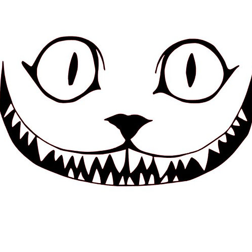 Cheshire Cat Grinning Vinyl Decal - Grin Like A Cheshire Cat