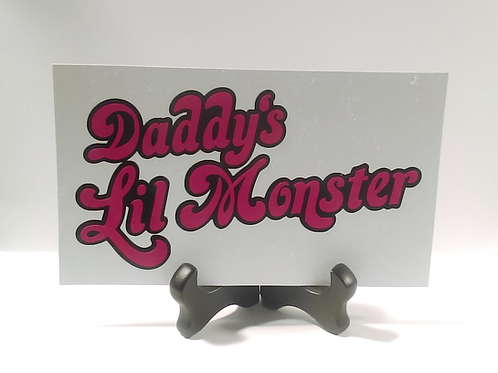 Daddy's Lil Monster Two Color Vinyl Decal - Suicide Squad Stickers