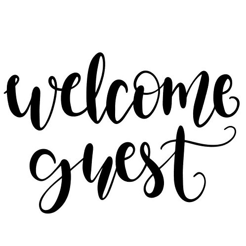 Welcome Guest Vinyl Decal - Home Decor Wall Art - Guest Room Decor
