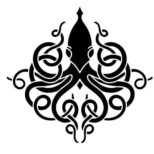 Kraken Celtic Knotwork Vinyl Decal - Kraken Sticker