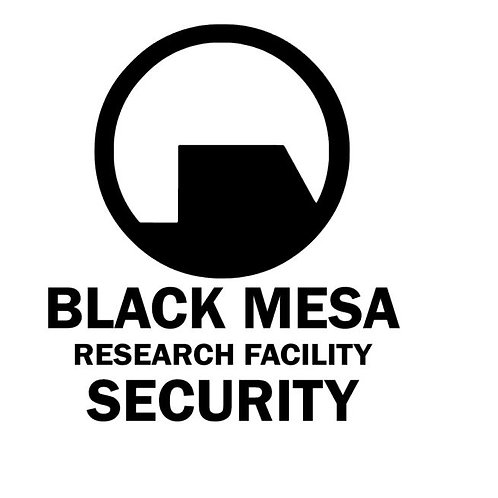 Half Life FAN ART Vinyl Decal Black Mesa Research Facility Security