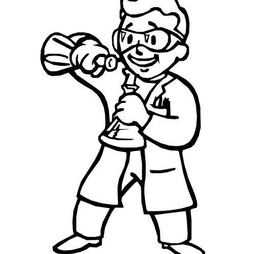 Pip Boy Scientist Decal - Fallout 4 Scientist Sticker - Vault Boy Vinyl Decal