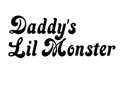 Daddy's Lil Monster Vinyl Decal - Suicide Squad Stickers - Harley Quinn