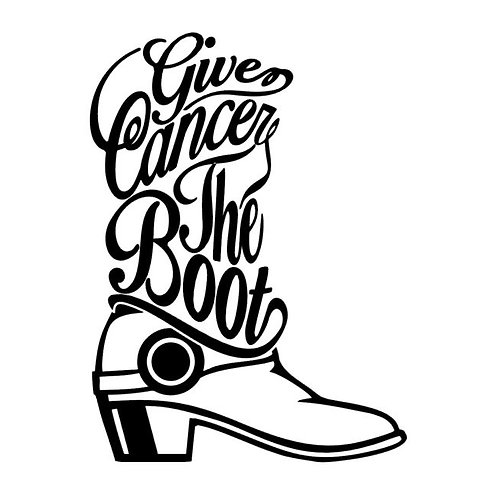 Give Cancer the Boot Awareness Vinyl Decal - Awareness Stickers - Breast Cancer