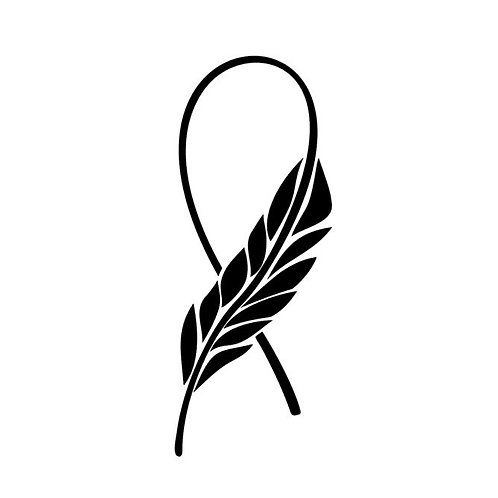 Awareness Ribbons - Plain Feather Ribbon -Breast Cancer Awareness