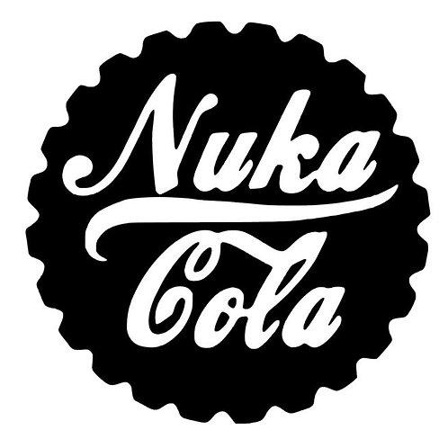 Fallout 4 Nuka Cola Sticker - Nuka Cola Cap Vinyl Decal - FallOut Fan Art