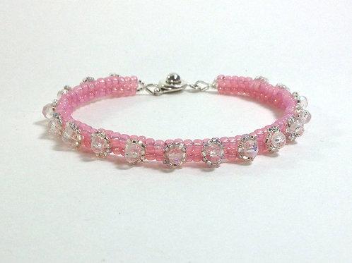 Pink / Crystal  Skinny Stackable Embellished