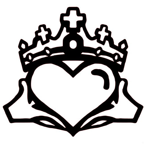 Claddagh Vinyl Decal - Celtic Stickers - Crown, Heart and Hands Decal