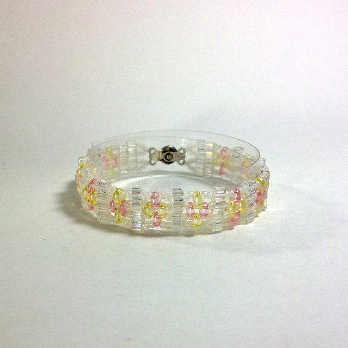 First Communion Bracelet Handmade Beaded Bracelet