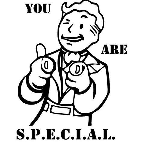 Pip Boy You Are S.P.E.C.I.A.L. Vinyl Decal - Fallout 4 Vault Boy Sticker
