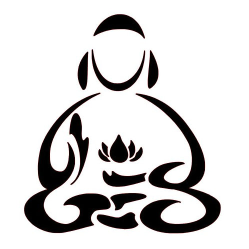 Buddha Lotus Vinyl Decal - Meditation Stickers - Buddhist Bumper Sticker