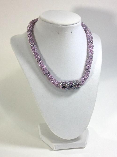Filled Netting Handmade Necklace Tudor Style