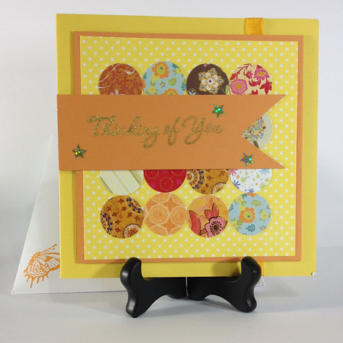 Thinking of You Bright Yellow Handmade Card