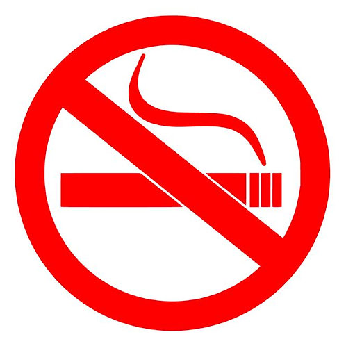 No Smoking Vinyl Decal - Business / Restaurant Signage - No Smoking Stickers