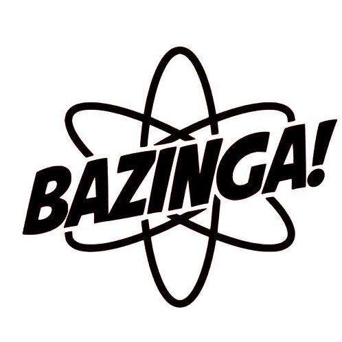 Atomic Bazinga Vinyl Decal - Big Bang Theory Inspired Sticker