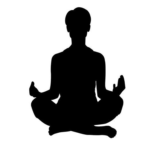 Siddhasana Seated Yoga Pose Vinyl Decal
