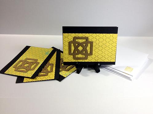 Yellow Celtic Knot Handmade Notecard