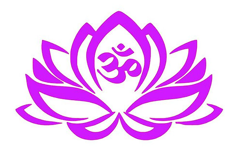 Om Lotus Vinyl Decal -  Buddhist Decal - Meditation Space Decor