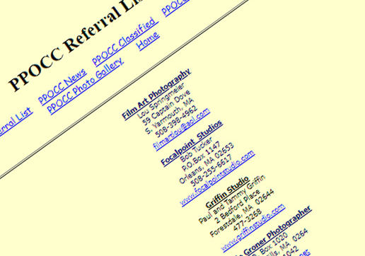 PPOCC-Webpage2001 closeup