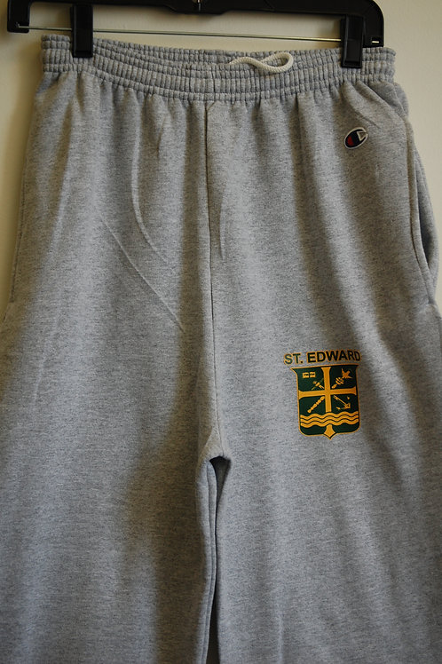 Sweatpants Open Bottom Gray fleece