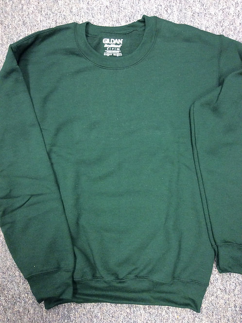 Custom Crew Fleece Dark Green