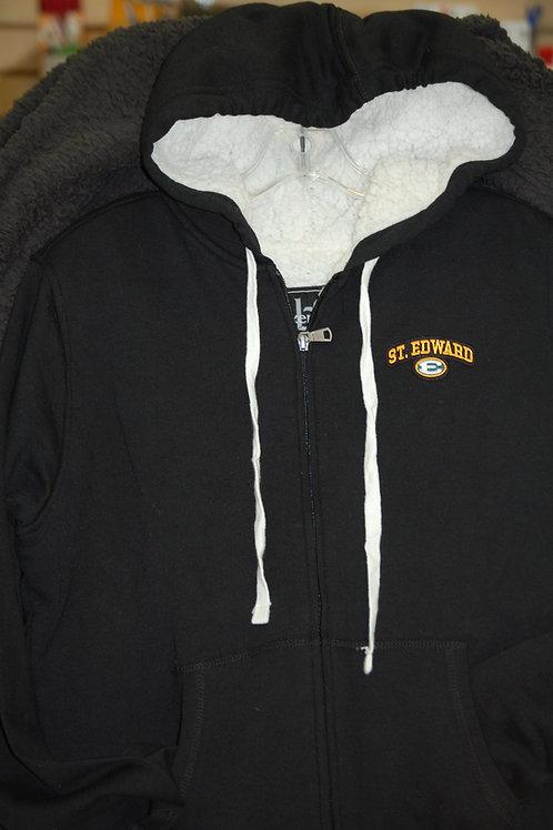 Hooded Full Zip Sweatshirt Sherpa-lined