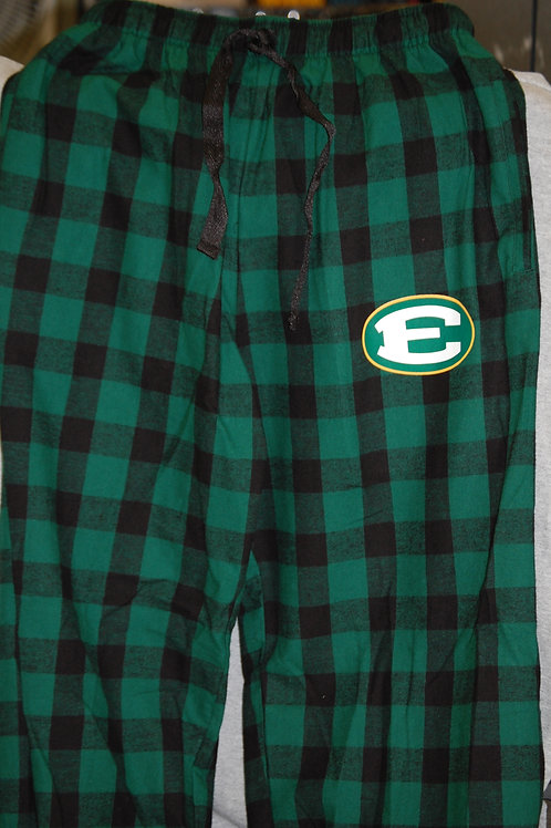 Flannel Pants Green and Black Plaid