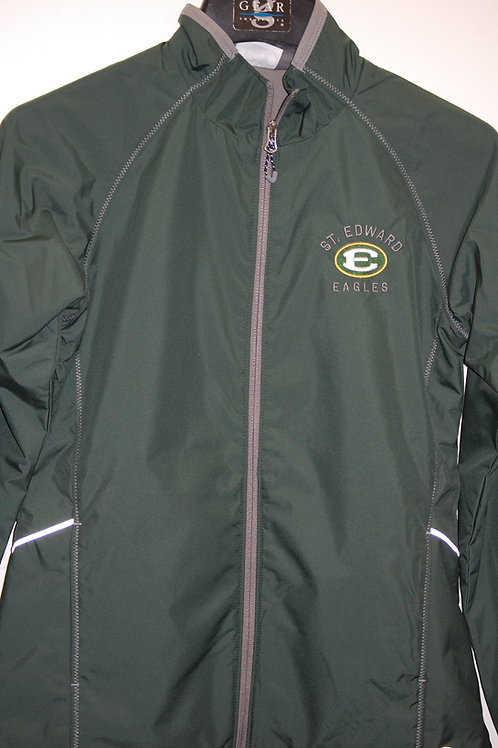 Ladies Jacket Be Seen Lined Green Grey trim