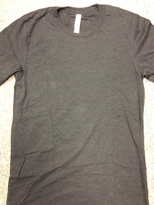 Custom Football Tshirt SS  Triblend Charcoal