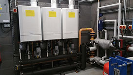 School cascade boiler installation