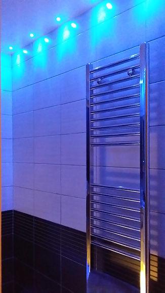 Bathroom towl rail installation