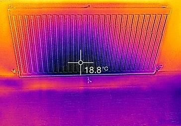 Thermal image before radiator flush