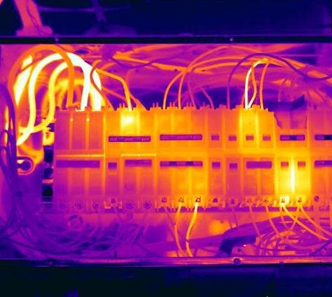 Hot/overloaded fuse board