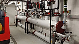 Commercial boiler plantroom installation