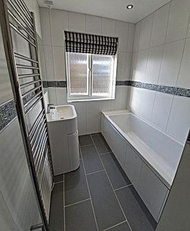 Upstairs bathroom installation