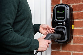 Plugging an electric vehichle into a wallpod charger