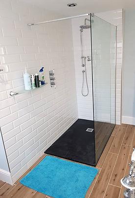 Domestic shower installation