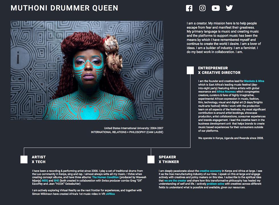 Mutoni Drummer Queen CV