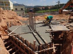 Concreto de bloco de fundação